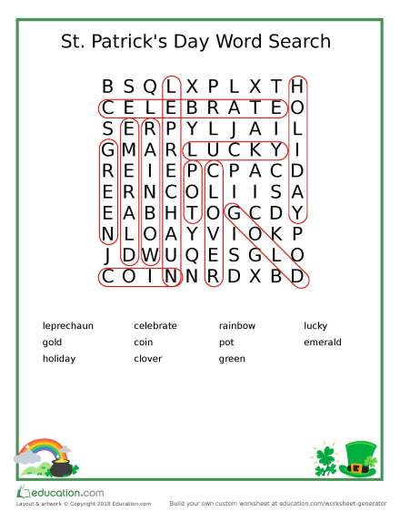 word_search_clover_answers